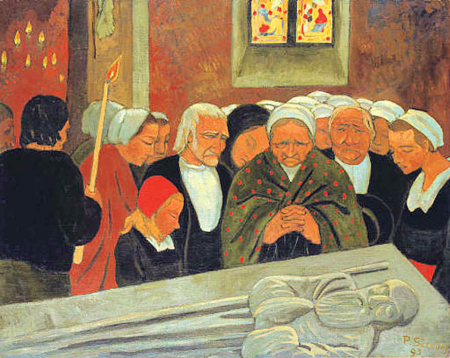 DÉVOTION À SAINT HERBOT OR LE PARDON. (73 x 92.5 CM)